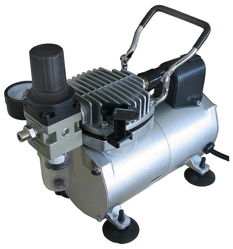 Tragbarer Kompressor, ideal für Airbrusharbeiten, 75 Watt