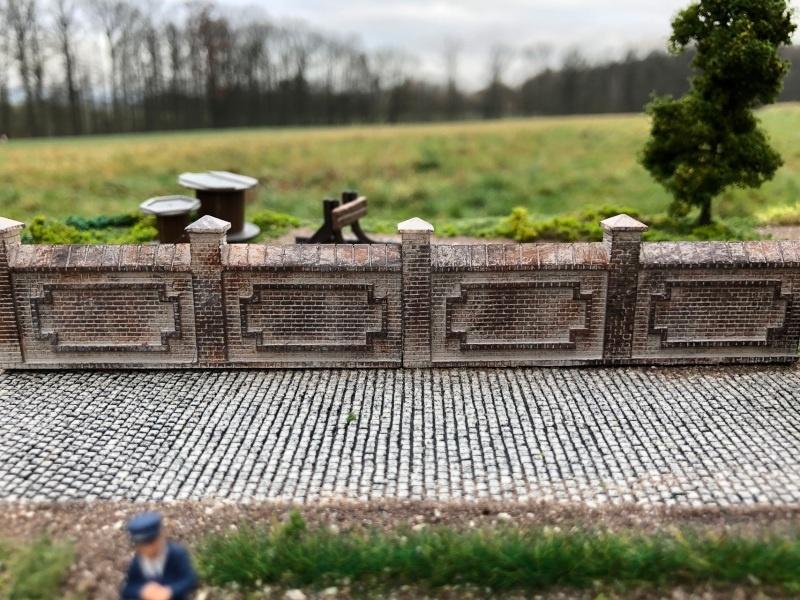 Fabrik- oder Friedhofsmauer, Set B / Spur H0