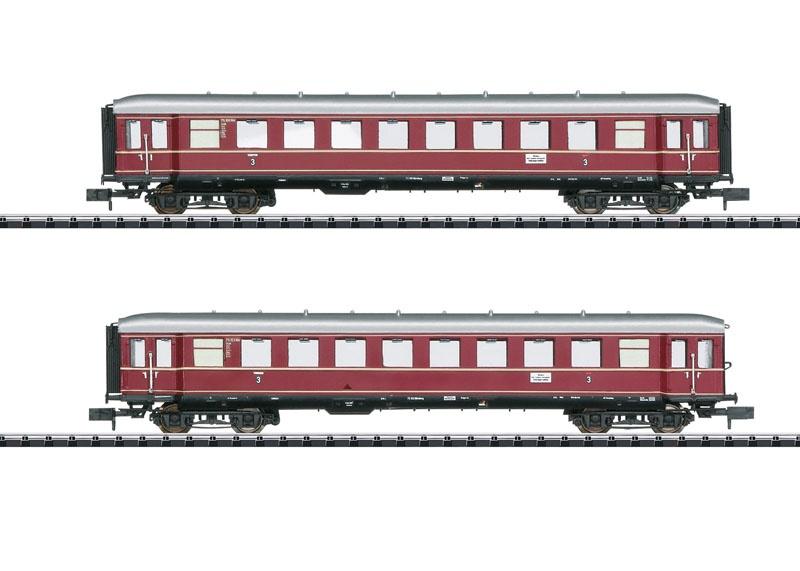 Wagen-Set Die roten Bamberger Teil 2, DB, Minitrix Spur N