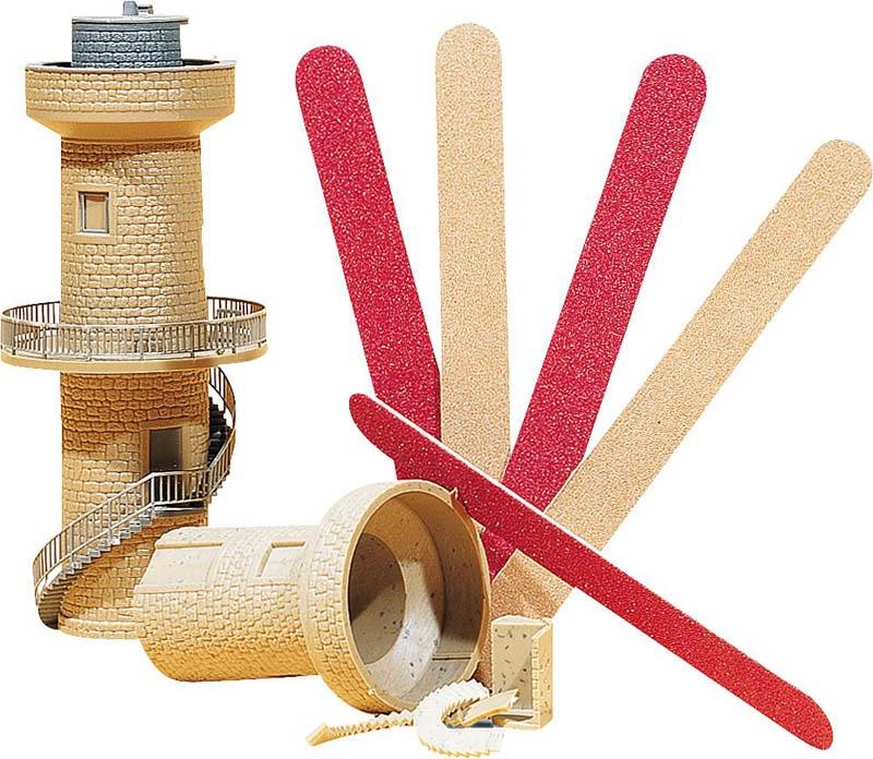 Modellbau-Sandfeilen, Körnungen 80 + 120, 5 Stück