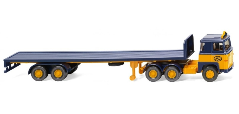 Flachpritschensattelzug (Scania) ASG, 1:87, Spur H0