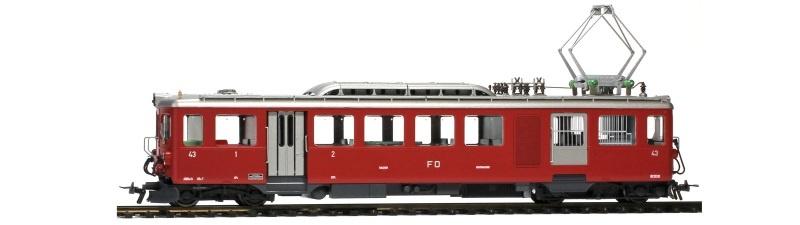 FO BDeh 2/4 43 Zahnrad-Gepäcktriebwagen, Spur H0m