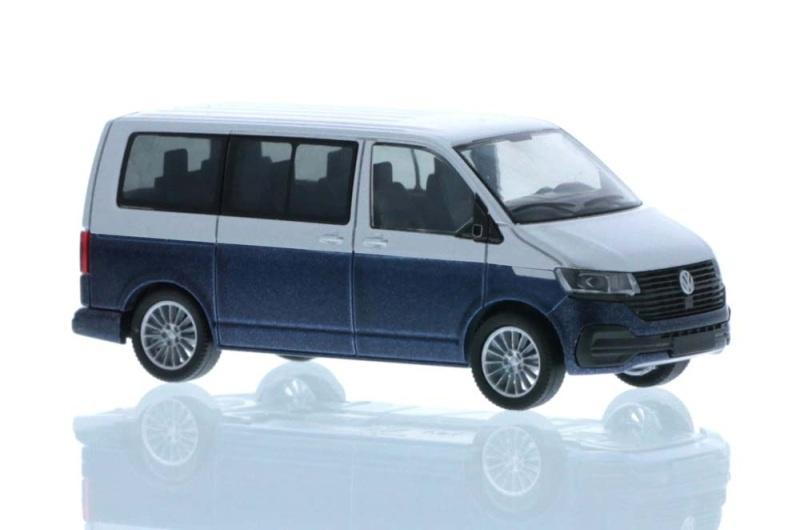 Volkswagen T6.1 Bus KR reflexsilber/starlight blue 1:87 / H0