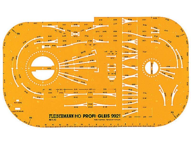 Gleisplanschablone für das Fleischmann H0 PROFI-Gleis