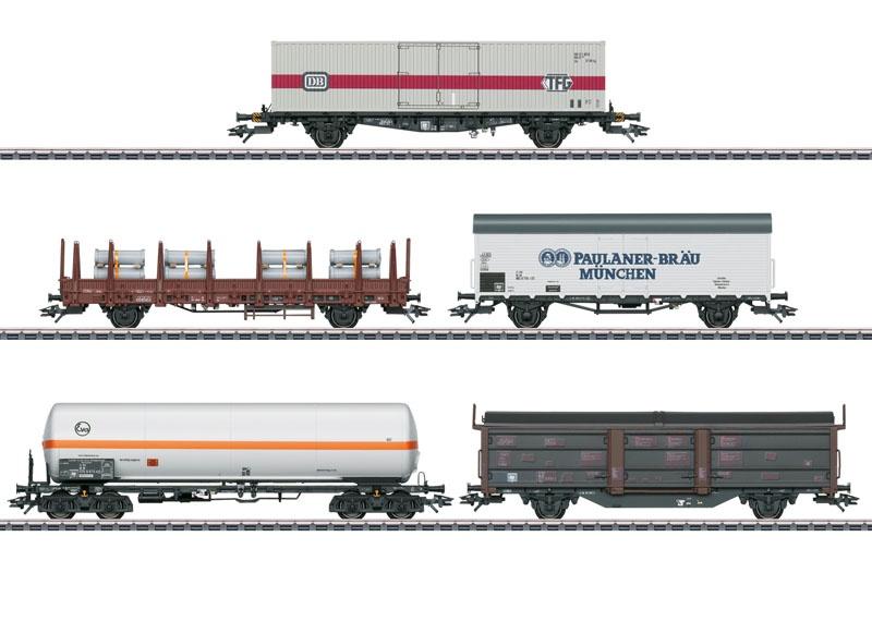 Güterwagen-Set zu BR 194 der DB, AC, Spur H0