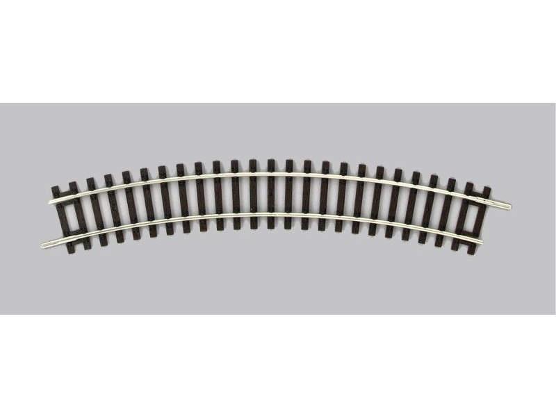 Gebogenes Gleis R1 360mm, A-Gleis mit Holzschwelle, Spur H0