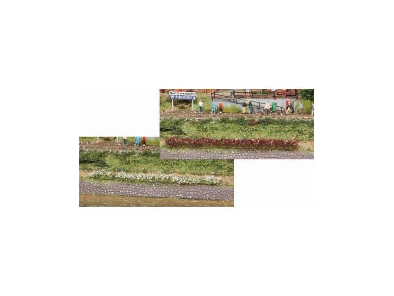 10 Grasstreifen weiß-erika, 100 mm lang, 5-6 mm hoch