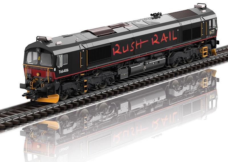 Diesellok Class 66 der RushRail, Sound, mfx DCC, DC, Spur H0