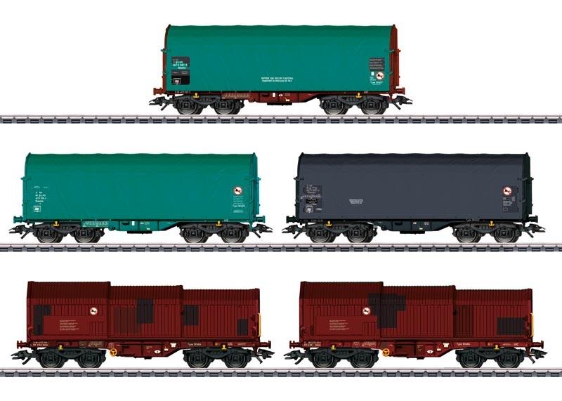 Güterwagen-Set Shimmns, Shimms der SNCB, AC, Spur H0