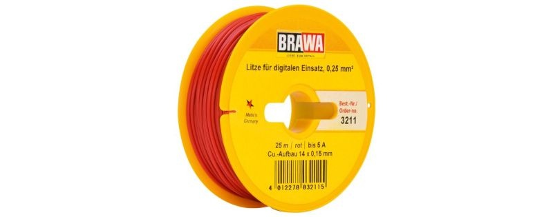Einzelader 0,25 mm², 25 m Spule, rot