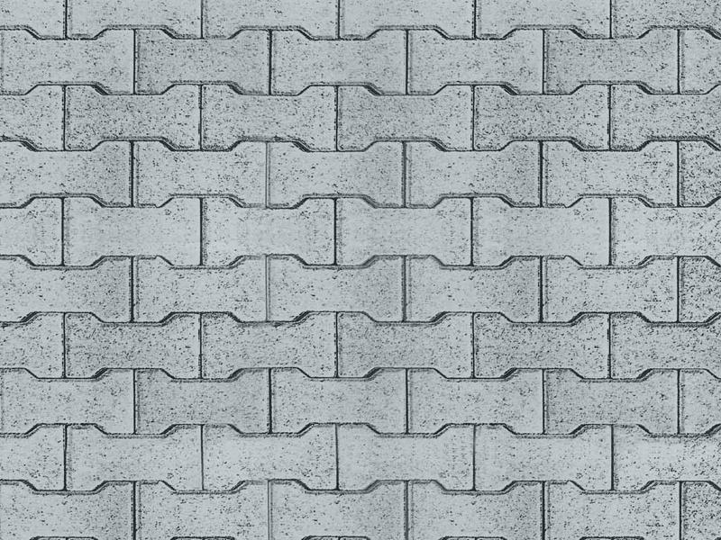 Straßenplatte Zement-Knochensteine aus Karton,25x12,5cm H0
