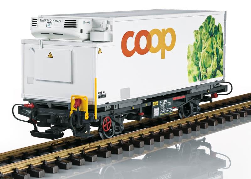 RhB Containerwagen coop Salat Spur G