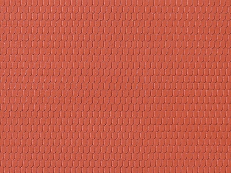 Dachplatte Biberschwanz lose, Kunststoff, Spur H0 / Spur TT