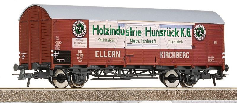 Gedeckter Güterwagen Holzindustrie Hunsrück K.G, DB, DC, H0