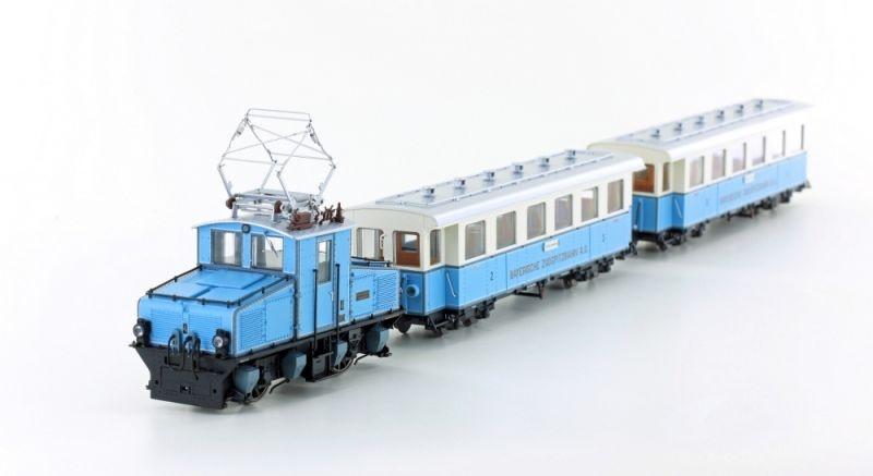 Zugspitzbahn AEG Tal Lok / 2 Wagen, Spur HOe