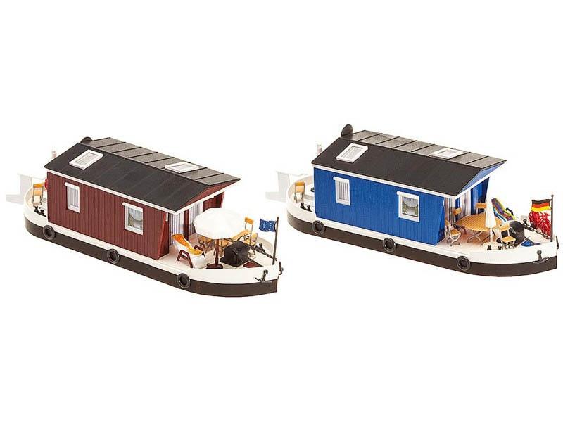 2 Hausboote Bausatz H0