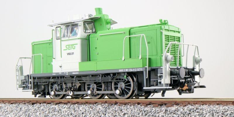 Diesellok BR V60 V60.01, SETG, Sound+Rauch, DC/AC, Spur H0