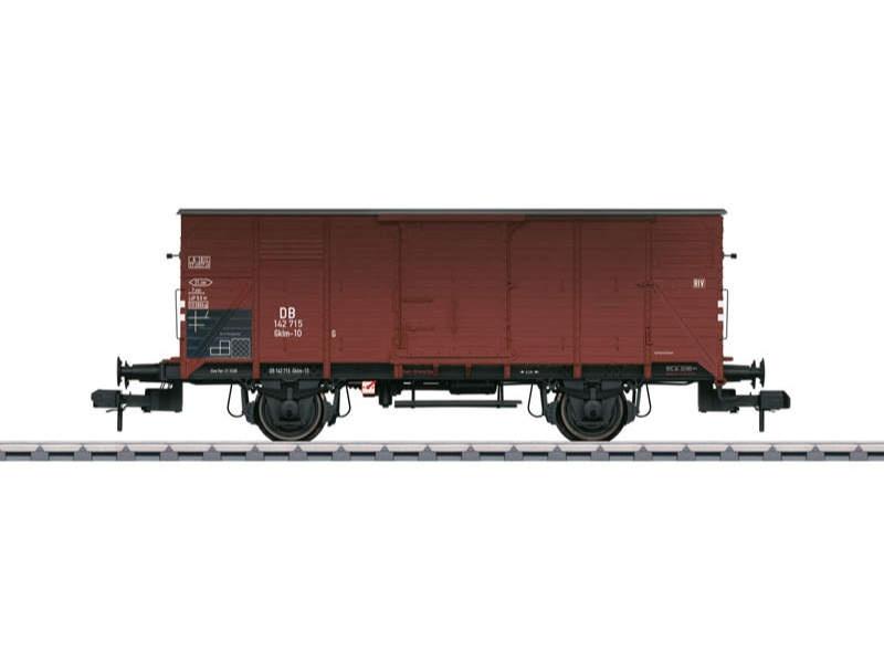 Gedeckter Güterwagen Gklm-10 ohne Bremserhaus DB Spur 1
