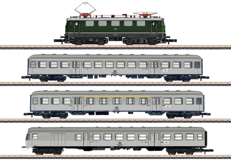 Zugpackung Nahverkehr der DB mit E-Lok und 3 Wagen, Spur Z