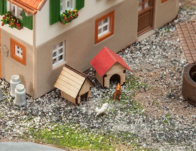 Hundehütten Lasercut-Modell Bausatz, Spur H0