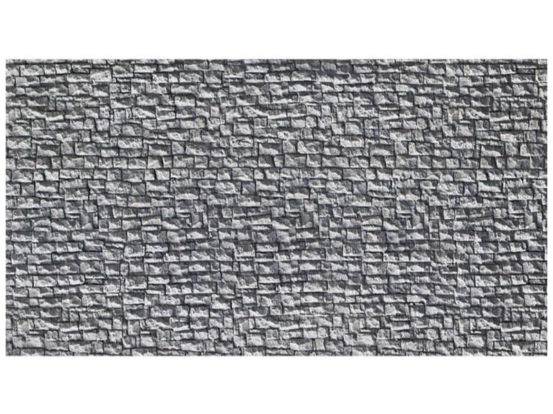 Bruchsteinmauer, 65 x 12,5 cm extra-lang Spur H0