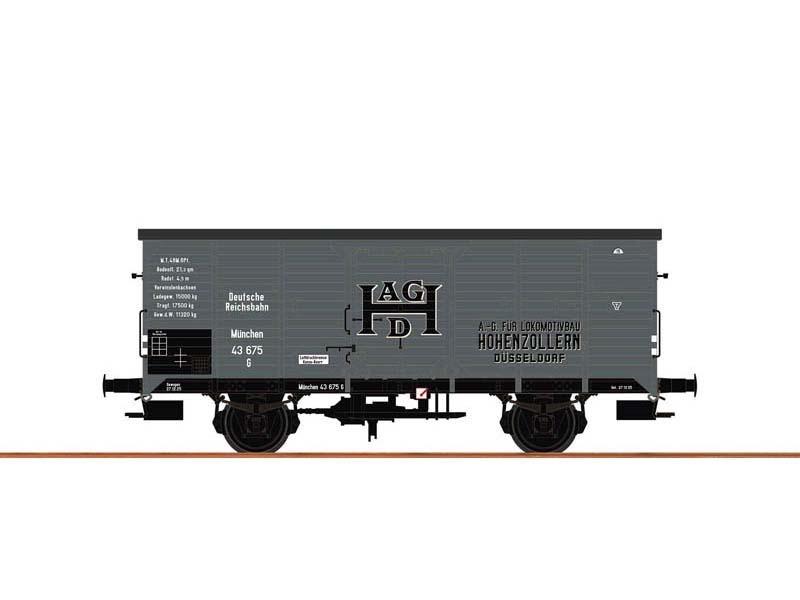 Gedeckter Güterwagen G Hohenzollern der DRG, Spur N