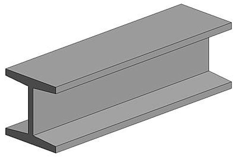 H-Profil, 350x4,8x4,4 mm - 3/16, 3 Stück