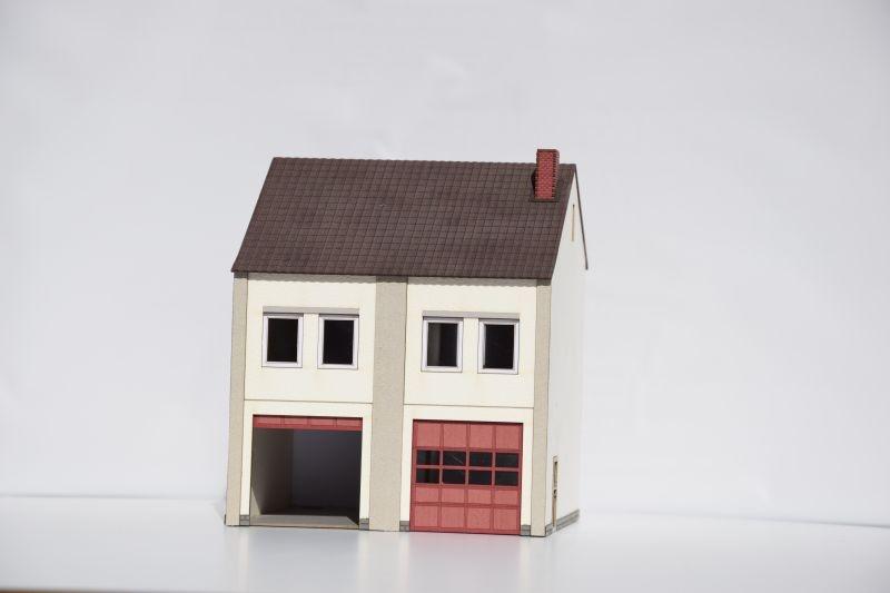 Nebengebäude, 2-ständig, Erweiterung zu 3004, H0 (Lasercut)