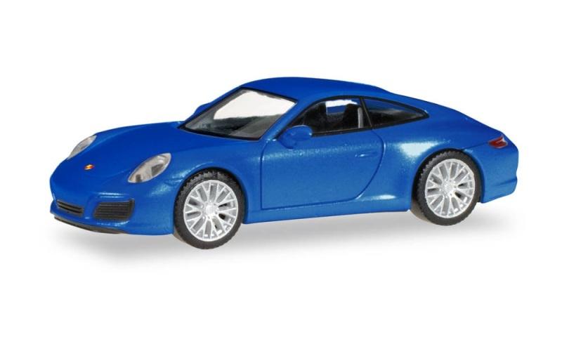 Porsche 911 Carrera 2S, Saphirblau Metallic, 1:87 / Spur H0