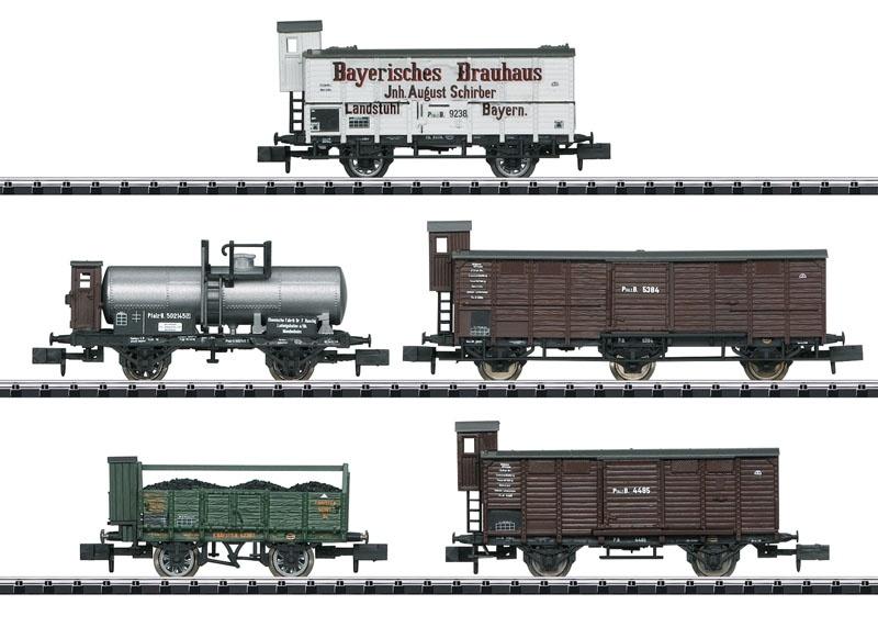 Güterwagen-Set Pfalz der K.Bay.Sts.B., Minitrix Spur N