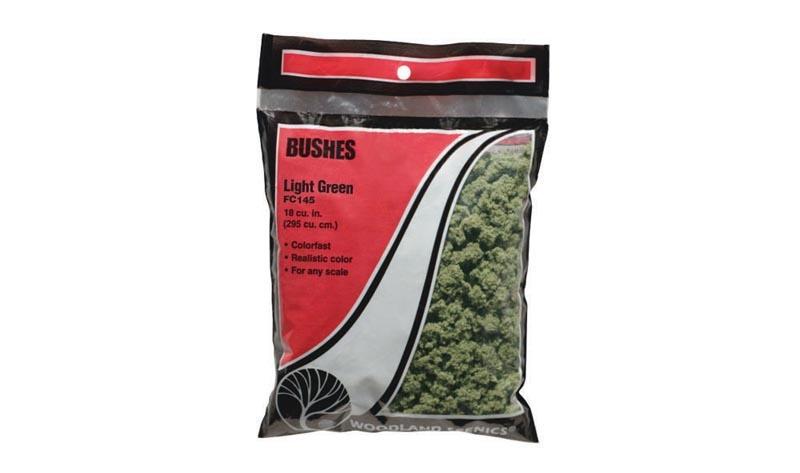 Bushes - Buschwerk-Flocken hellgrün Beutel
