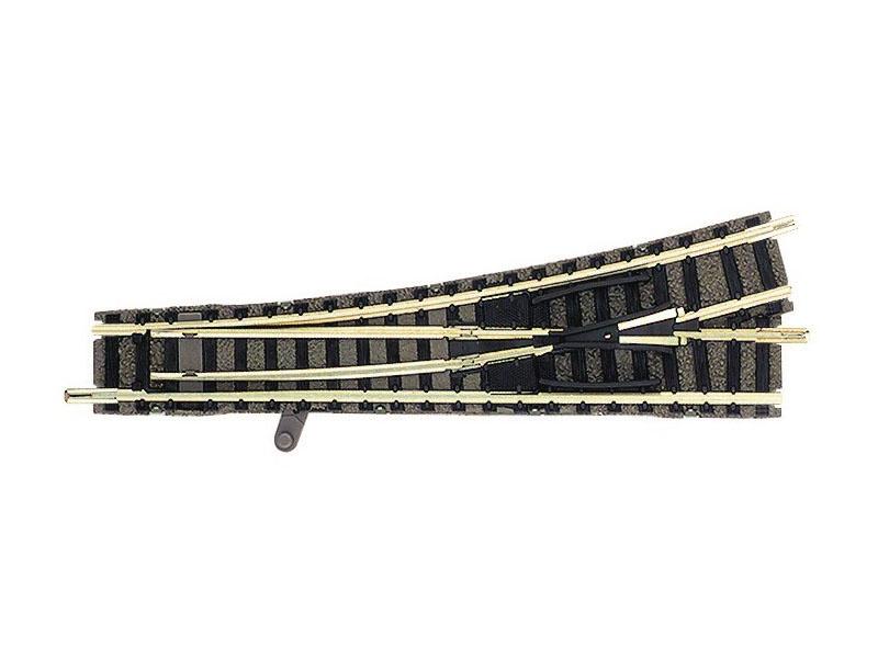 Weiche links für Handbetrieb N-Gleis mit Bettung