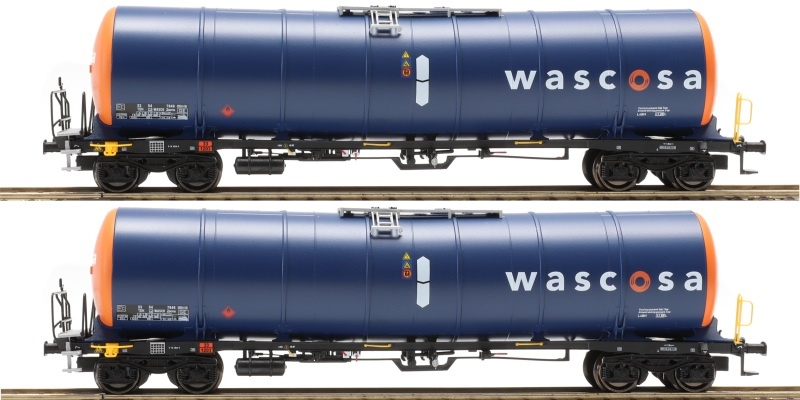 2-tlg Set Zacns 98 Wascosa, orange / blau 1, Ep. VI, DC, H0