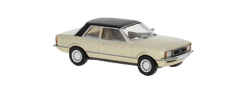 Ford Taunus TC2, metallic-beige/matt-schwarz,1976, 1:87 / H0