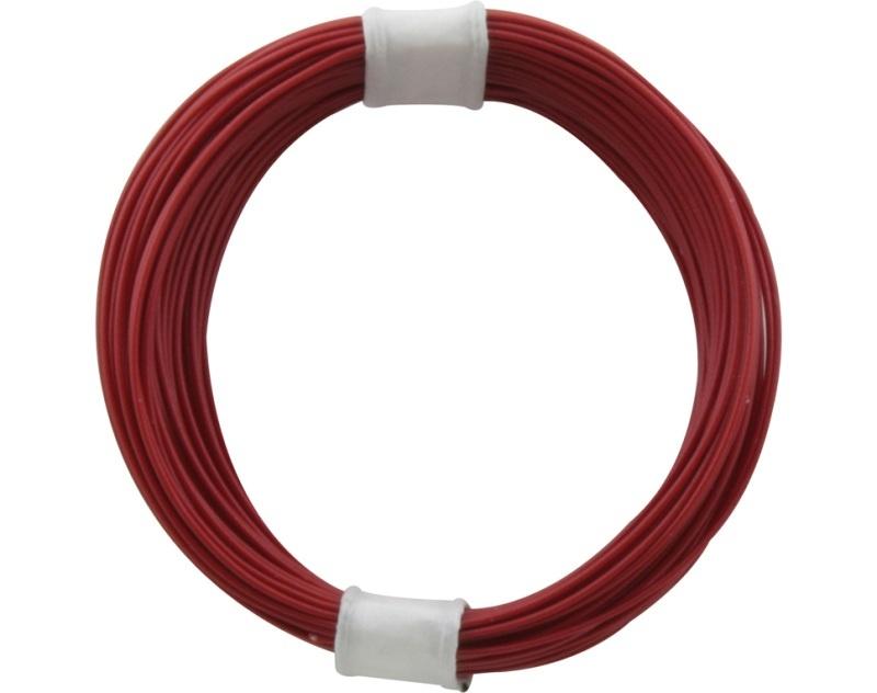 Kupferschalt Litze 0,04 mm² / 10 m rot