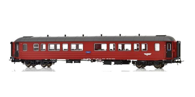 Topline Personenwagen B3-2 Type 3 25517 NSB, Rot/Schwarz, H0