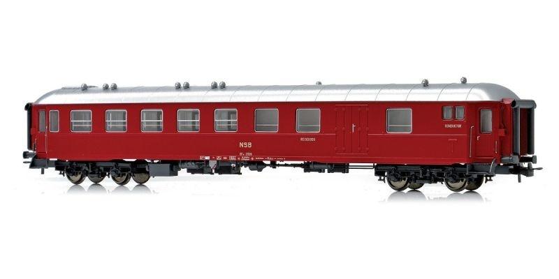 Topline Personenwagen BF10 21509 der NSB, Mellomdesign, H0