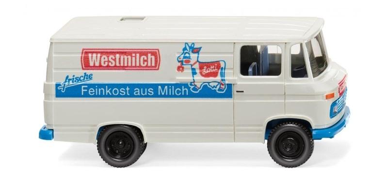 MB L 406 Kastenwagen, Westmilch, 1:87, H0