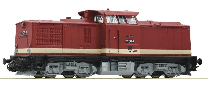 Diesellokomotive 114 298-3 der DR, DC, Spur H0