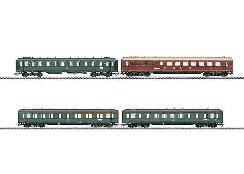 Schnellzugwagen-Set zur Dampflok BR 18 505 DB H0