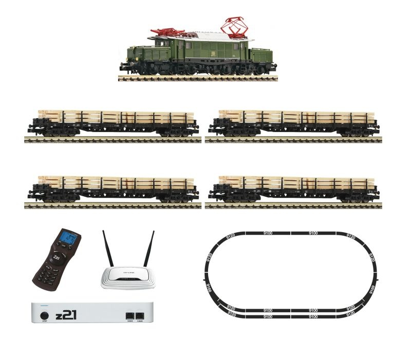 z21 Digitalset: E-Lok BR 194 mit Güterzug der DB, DC, Spur N