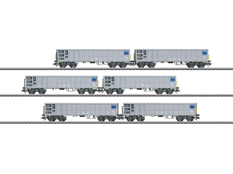 Hochbordwagen-Set mit 6 Wagen Fas SBB Cargo H0