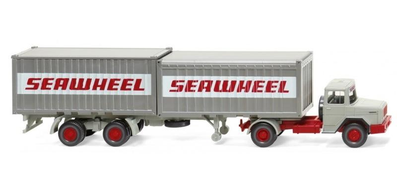 Containersattelzug Magirus Deutz, Seawheel, 1:87, H0