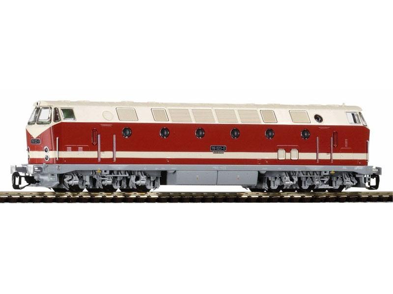 Diesellok BR 119, Spitzenlicht oben, DR, Ep. IV, Spur TT
