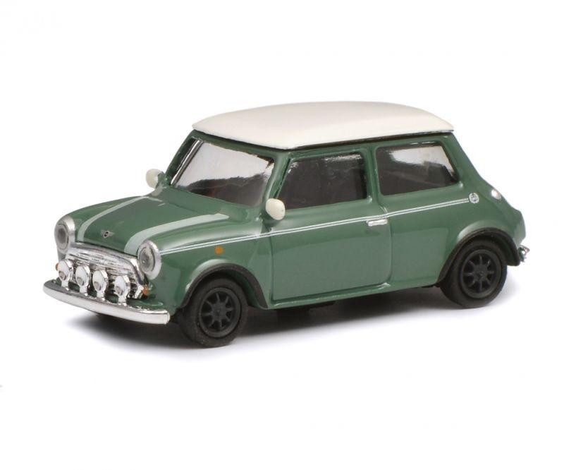 Mini Cooper, grün weiß, 1:87 / Spur H0