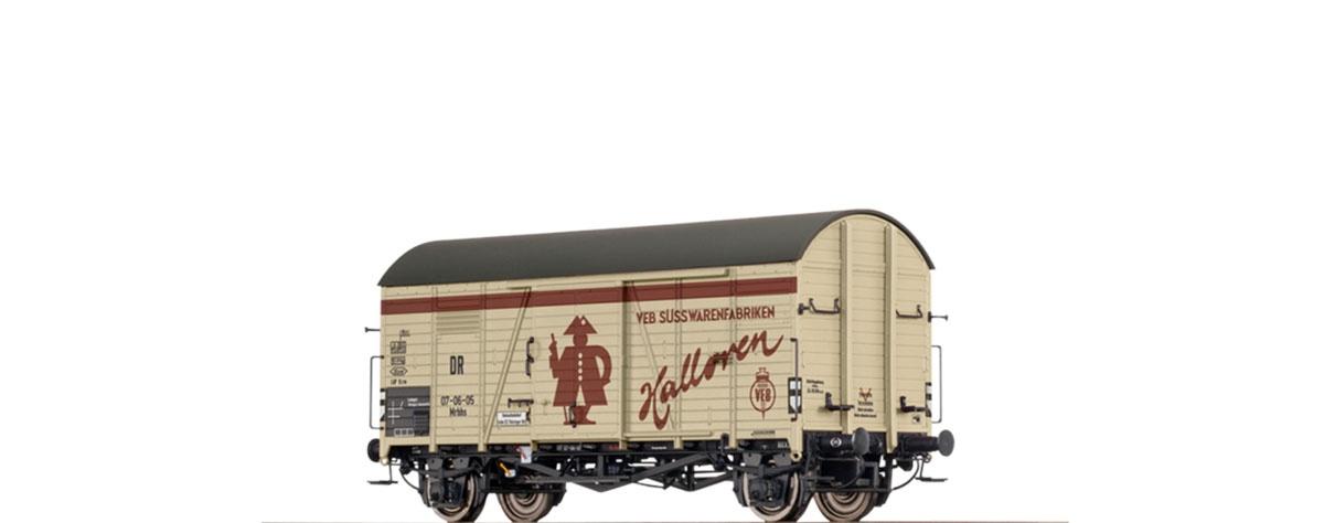 Gedeckter Güterwagen Mrhhs Halloren der DR, DC, Spur H0