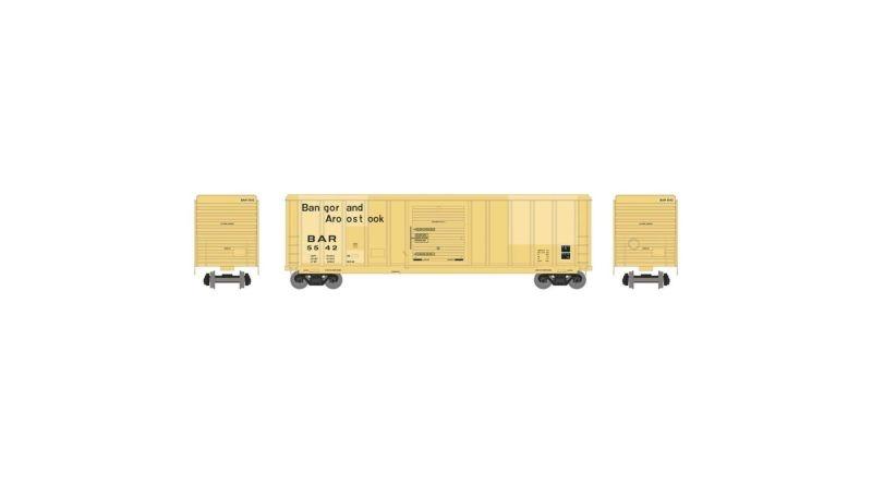 Gedeckter Güterwagen 5344 50 Bangor & Aroostook, DC, H0
