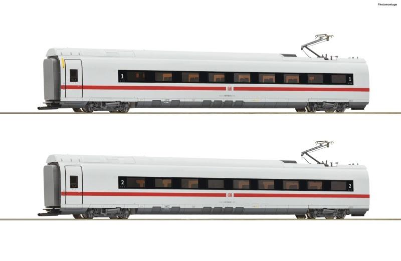 2-tlg. Set 1: Zwischenwagen ICE 3 (BR 407), DB AG, DC, H0