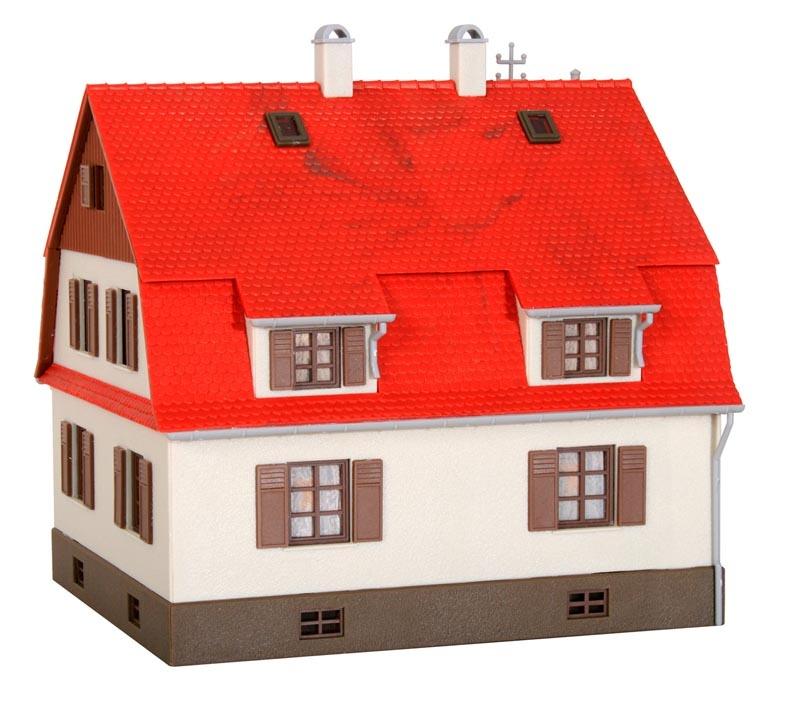 Wohnhaus mit Erker, Bausatz, Spur H0