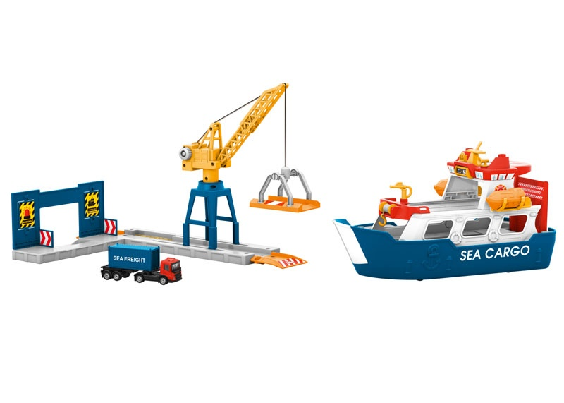 my world - Frachtschiff und Hafenkran, Spur H0